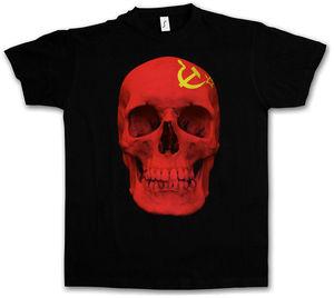 Camiseta de la bandera del cráneo de la Unión Soviética de CCCP para hombre, camiseta de Totenkopf de Rusia a la moda, ropa para hombre
