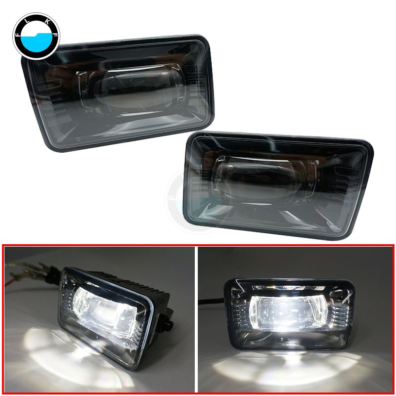 Pair Projector LED Fog Light Replacement Clear Lens 5500K For Ford F150 Led Fog Lamp For 2015 2016 2017 2018 Ford F150.