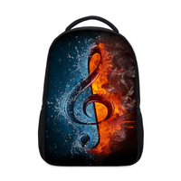 VEEVANV Designer Musical Notation Printing Backpacks Men's Shoulder Bags Fashion Bags for Girls Children School Laptop Backpacks