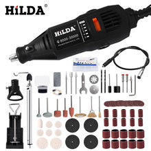 HILDA Electric Drill Dremel Grinder Engraving Pen Grinder Mini Drill Electric Rotary Tool Grinding Machine Dremel Accessories(China)