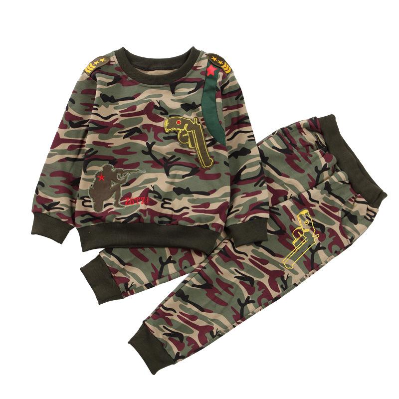 Boys Clothing Sets 3 6 9 12 Year Boy Camouflage Full Sleeves Clothes Suits Children O neck Tracksuits Kids Fashion Sportwear