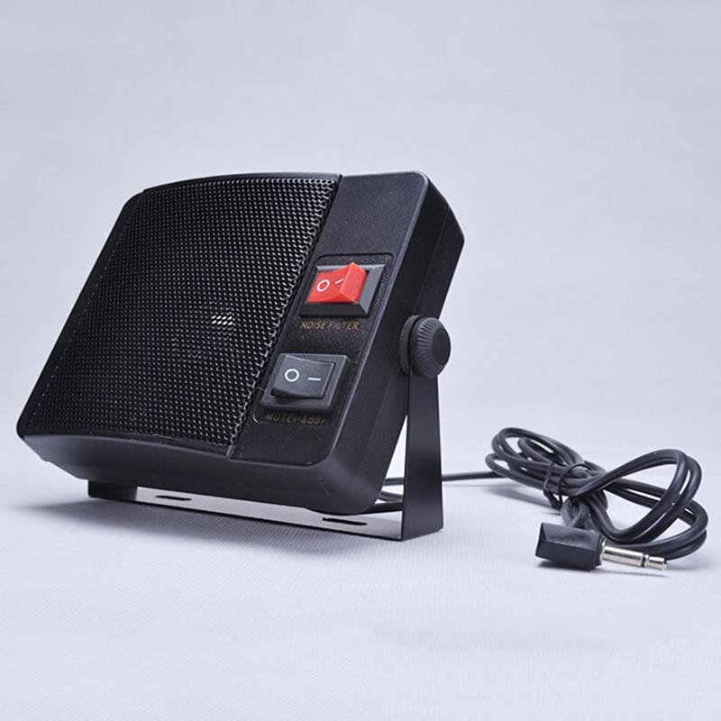 TOPMYS TM-ES608 Mini CB Radio Speaker 8ohm 10W CB Extension Speaker with Swivel Bracket 2m cable 3.5mm Mono Plug For Truck or Taxi CB Speaker