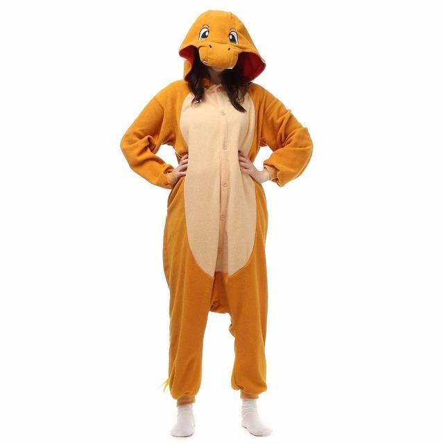 Spring Autumn Poke mon Pajamas Adult Kigu Unisex Cosplay Costume Pikachu fire dragon Umbreon pyjamas Animal Onesie pajama