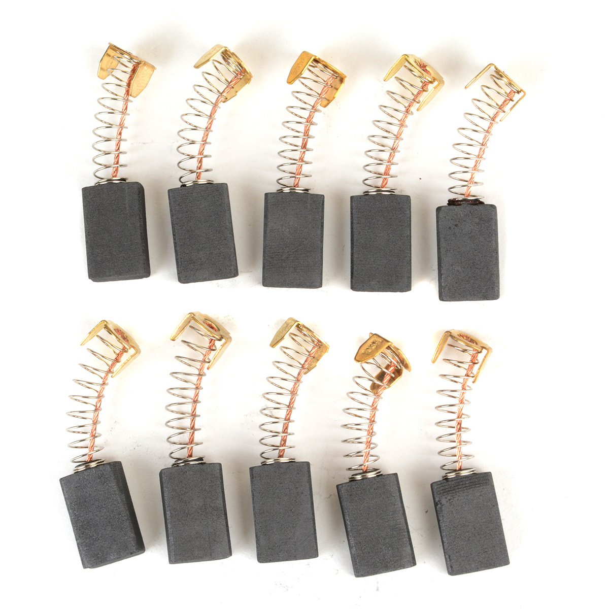 10pcs 6 x 12 x 20mm Universal Motor Carbon Brushes For Electric Tools
