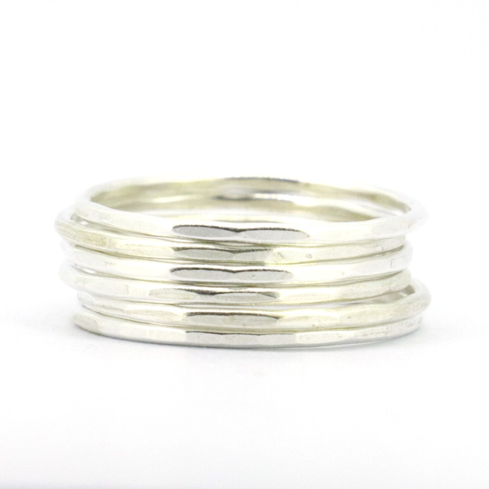 WellMade 1.5mm Solid 925Sterling Silver Plain Band Ring