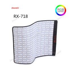 Falcon Eyes RX-718 100W RGB 2700-9999K Portable LED Photo Light + Honeycomb Grid Flexible Photography Safety Box CD50 T03 Y2