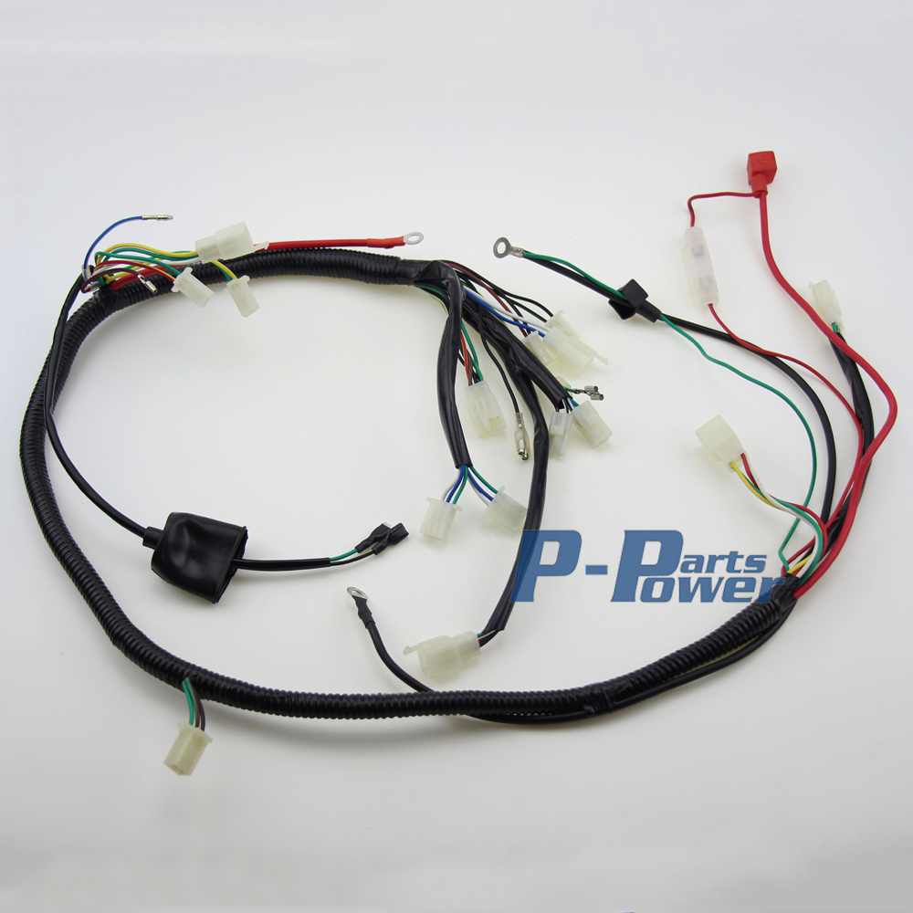WIRELOOM WIRING HARNESS ASSEMBLY SCOOTER GY6 150cc Chinese Elecric Start Kandi ATV QUAD BIKE ATOMIK BUGGY wireloom wiring harness assembly scooter gy6 150cc chinese elecric wiring harness for 150cc scooter at aneh.co