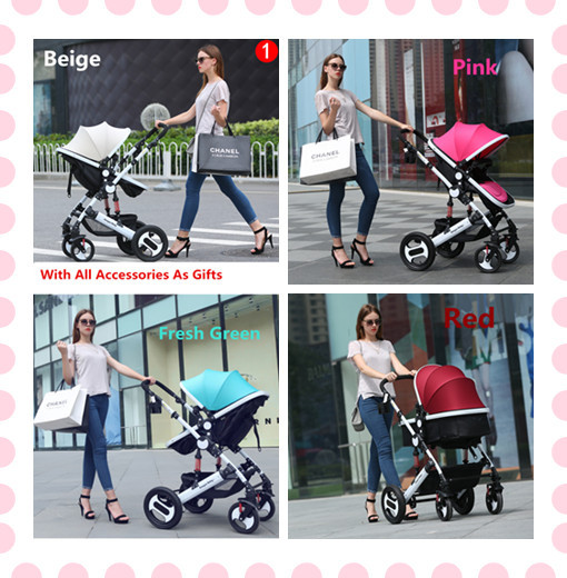 Baby Walker + Accessories Suitable For 0-4 Years Children  2 In 1 Strollers For Kids 3 States Canopy For Infant Travelling