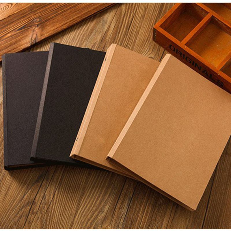 A5 Blank Sketchbook Diary Drawing Graffiti Painting Kraft Sketch book 80 sheets Spiral Notebook paper Office School Supplies notebook a4 inside page spiral 60 sheets 3 hole filler paper blank and line kraft paper office and school supplies writing pads page 3