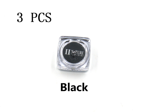 PCD Black Paint Professional Eyebrow Micro Tattoo Ink Set Lips Microblading Permanent Makeup Pigment Colorfastness 3 Pieces/Lot