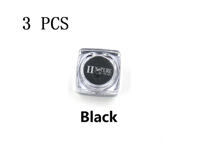 PCD Tinta Preta Sobrancelha Profissional Micro Conjunto de Tintas De Tatuagem Lábios Microblading Colorfastness 3 Peças/lote Pigmento Maquiagem Definitiva