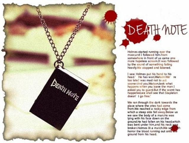Death Note Bronze Chain Pocket Watch Necklace