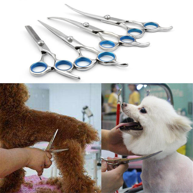 Hot Sale Pet Hair Cut Colorful Scissors Clippers Flat Tooth Cut Pets Beauty Tools Set Kit Dogs Grooming Hair Cutting Scissor Set 5