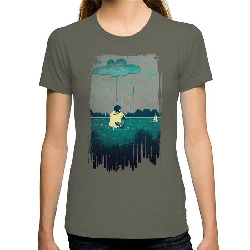 2018 New Summer Hot Sale Fashion WomenS Emotion Sickness Printing O-Neck Short-Sleeve Shirt