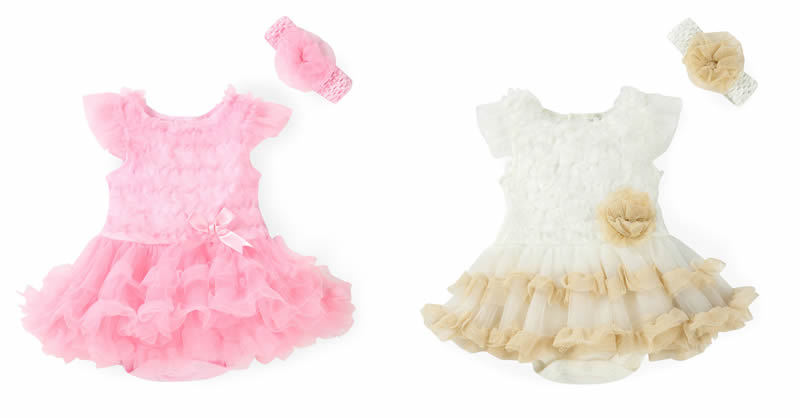 0-2Years,SO-buts Infant Newborn Baby Girl Long Sleeve Tulle Tutu Romper Bodysuit Clothes Headband Outfits Set Clothes