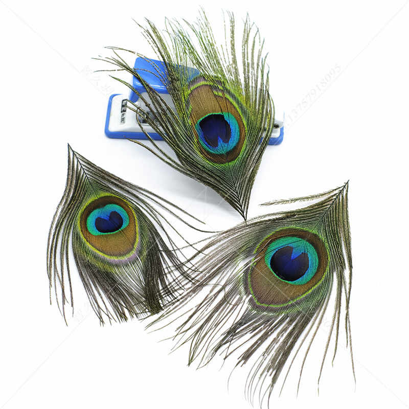 Natural 10pcs 8-12cm Trimmed peacock feathers eyes for crafts Dreamcatcher Earring vase decoration plumes Necklace accessories