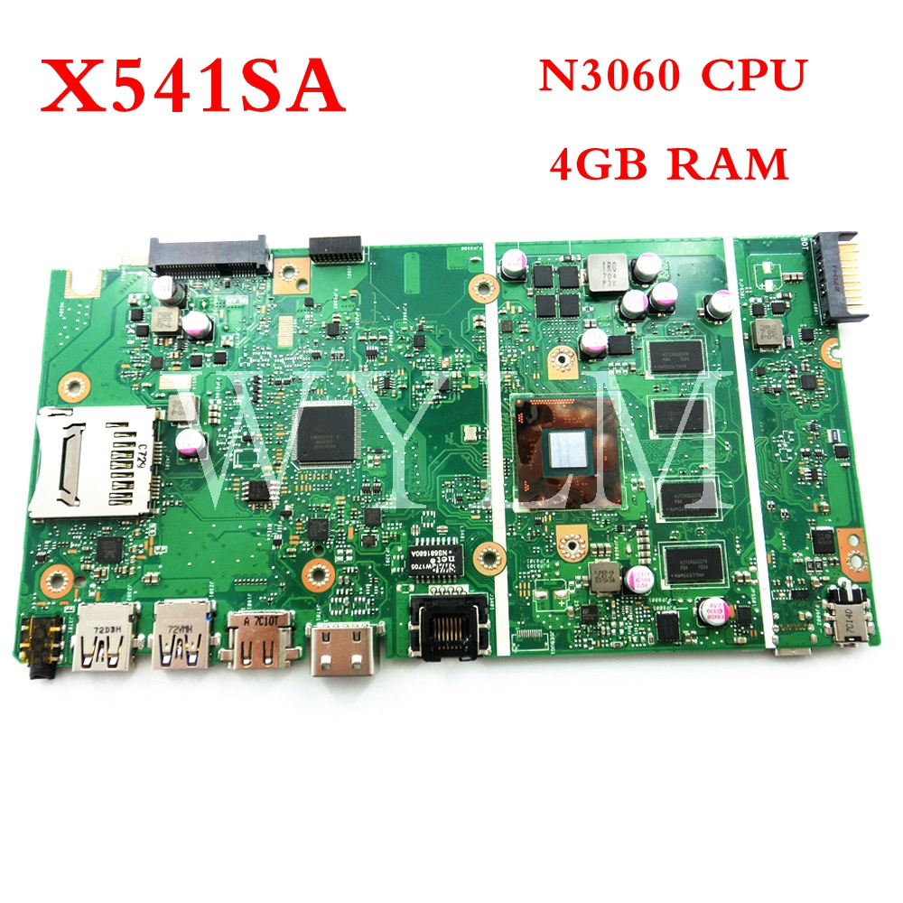 X541SA N3060 CPU 4GB RAM mainboard For ASUS X541 X541S X541SA laptop motherboard Tested Working 90NB0CH0-R00010 цена