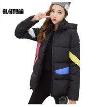 OLGITUM Женщины толще версия с капюшоном Зима новый пуховик хлопок теплый хлопок куртка для студентов LJ773
