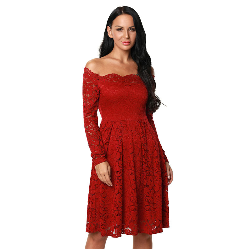 Red cotton tube dress