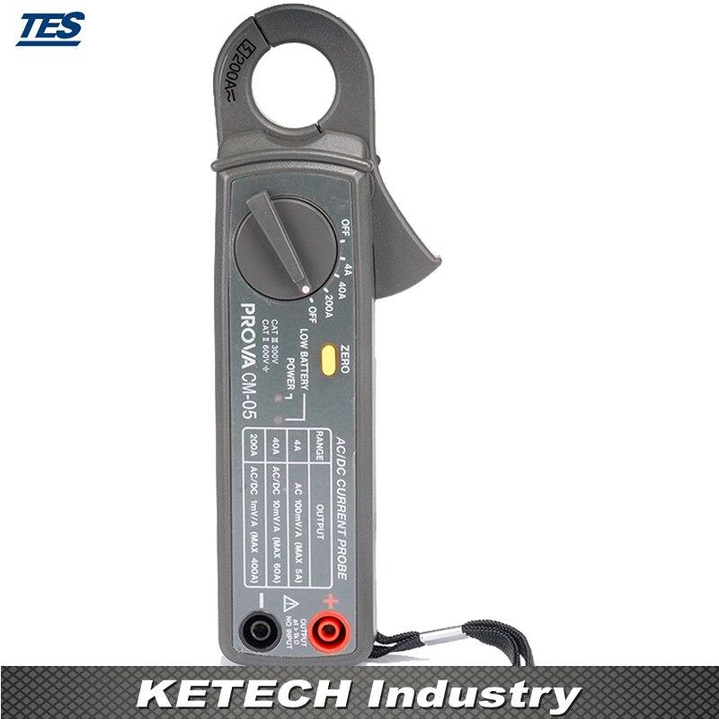 Sonde de courant cc/AC, pince de testeur de courant PROVA CM-05Sonde de courant cc/AC, pince de testeur de courant PROVA CM-05