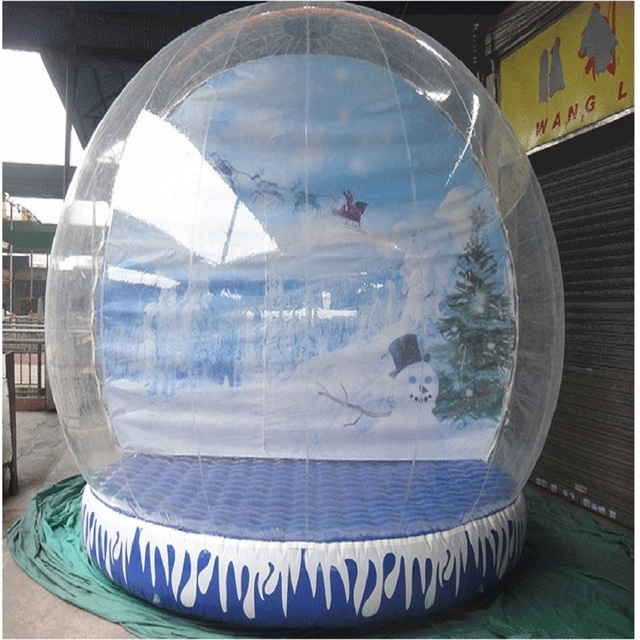 inflatable snowflake ball or inflatable Snowdome 4 M diameter Cartoon background exhibition start business  indispensable