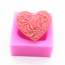 For Wedding Decoration Birthday Gift Heart Craft Handmade Silicone soap silicone cake decorative Clay Mould