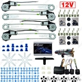 DC12V Car/Auto Universal 4 Doors Electronice Power Window kits With 8pcs/Set Swithces and Harness #J-2845