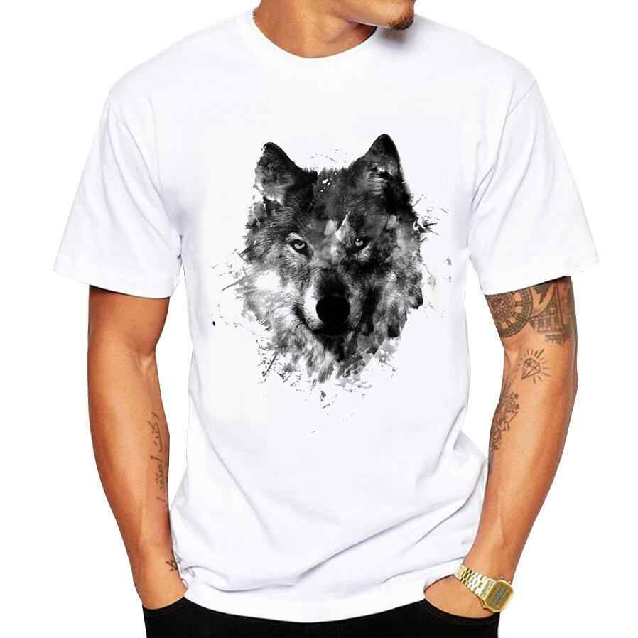 Men's T-Shirts summer Casual Cotton Black Wolf Printed t shirt tshirt men O-Neck Short Sleeve Brand Tee shirt men size 5XL