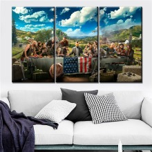 Canvas Posters Home Decorative Wall Art Framework 3 Pieces Game Far Cry 5 Key Paintings For Modern Living Room HD Print Picture