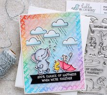 TPP Baby elephant playing in the rain Clear Silicone Stamp/Seal for DIY scrapbooking/photo album Decorative clear stamp sheets(China)