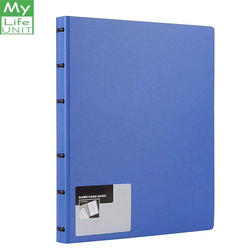 MYLIFEUNIT Adjustable page Business Card Book 600 Business Cards Capacity Name Card Holder Book (Blue)MYLIFEUNIT Adjustable page Business Card Book 600 Business Cards Capacity Name Card Holder Book (Blue)