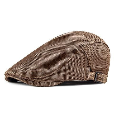 2019 Spring Summer Solid Color Mesh Newsboy Caps Men Cotton Flat Peaked Cap Women Painter Beret Hats 14 Multan