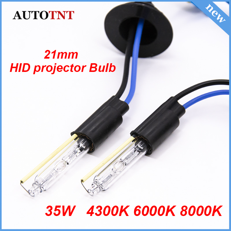 2pcs AC 12v 35w  21mm Auto HID Xenon Bulbs For 3.0 Inch Koito Q5 Bi Xenon Projector Lens Headlight