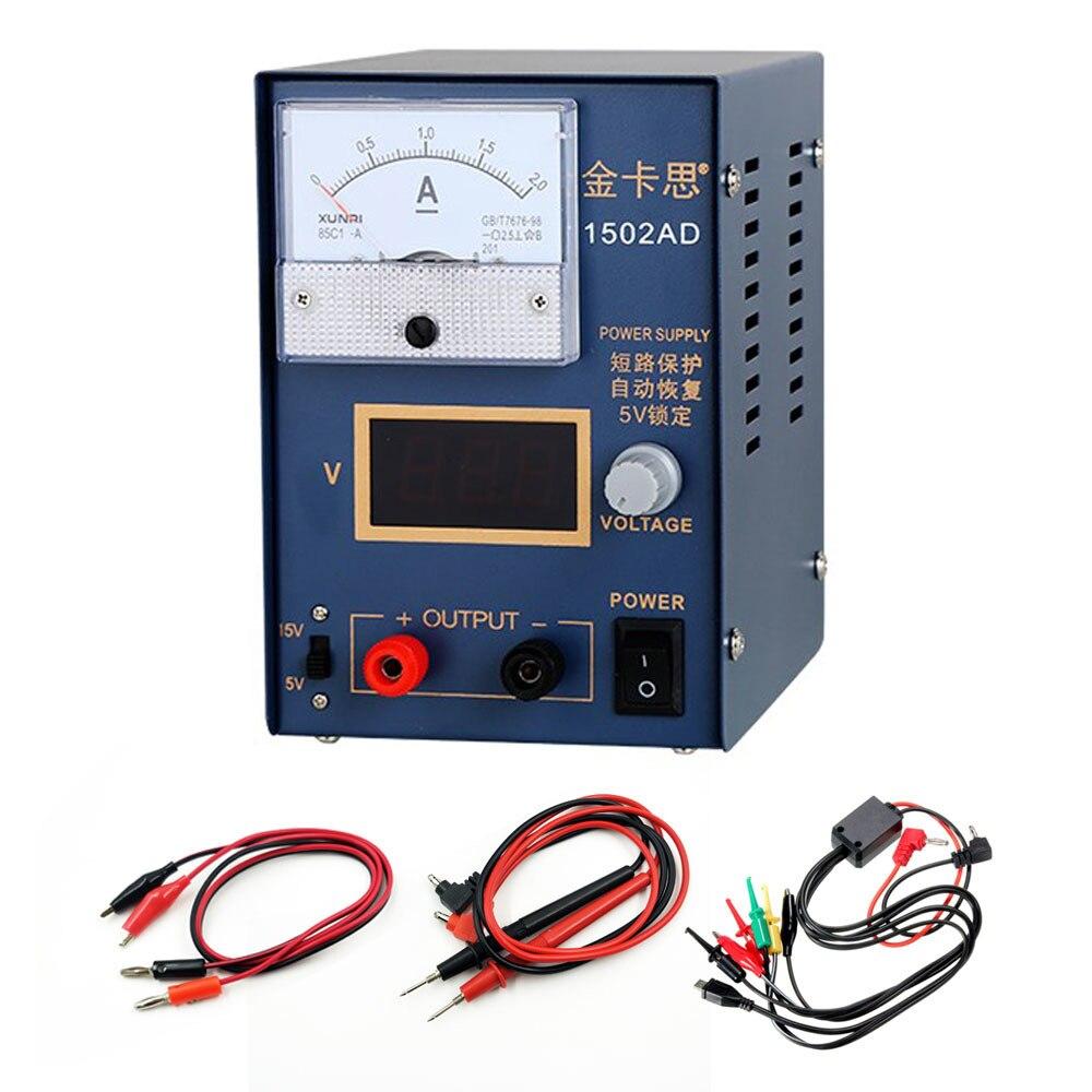 15V 2A téléphone réparation alimentation Mini réglable DC alimentation Station testeur téléphone test alimentation à découpage alimentation