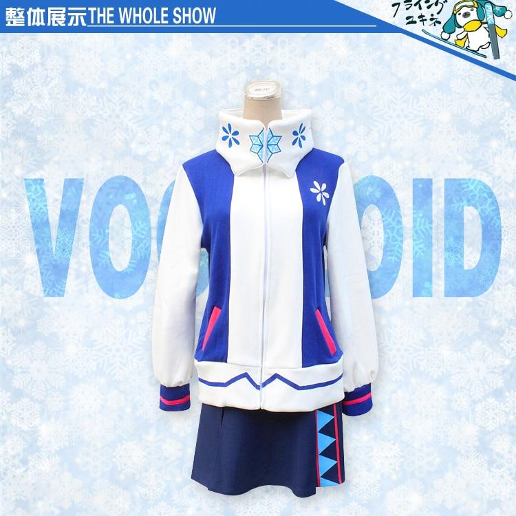 Hommes femmes neige Hatsune japonais Anime adulte mode hiver pull robe contient écharpe ZXSxh01