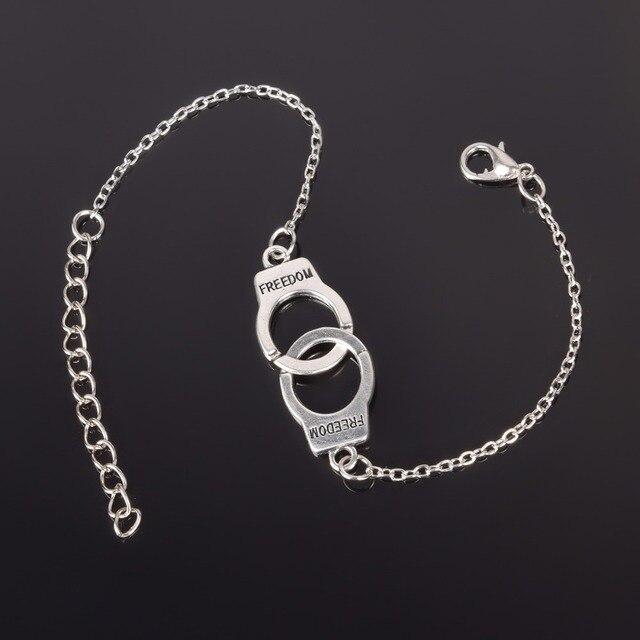 כסף צבע אזיקים פאנק צמידים לנשים כסף צמידי שרשרת צמידי תכשיטים קיץ סגנון מתנה ns210