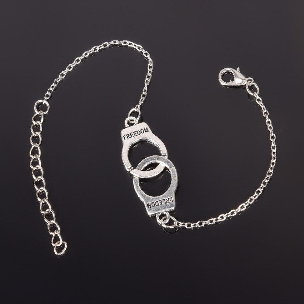 Silver Color Handcuffs Punk...