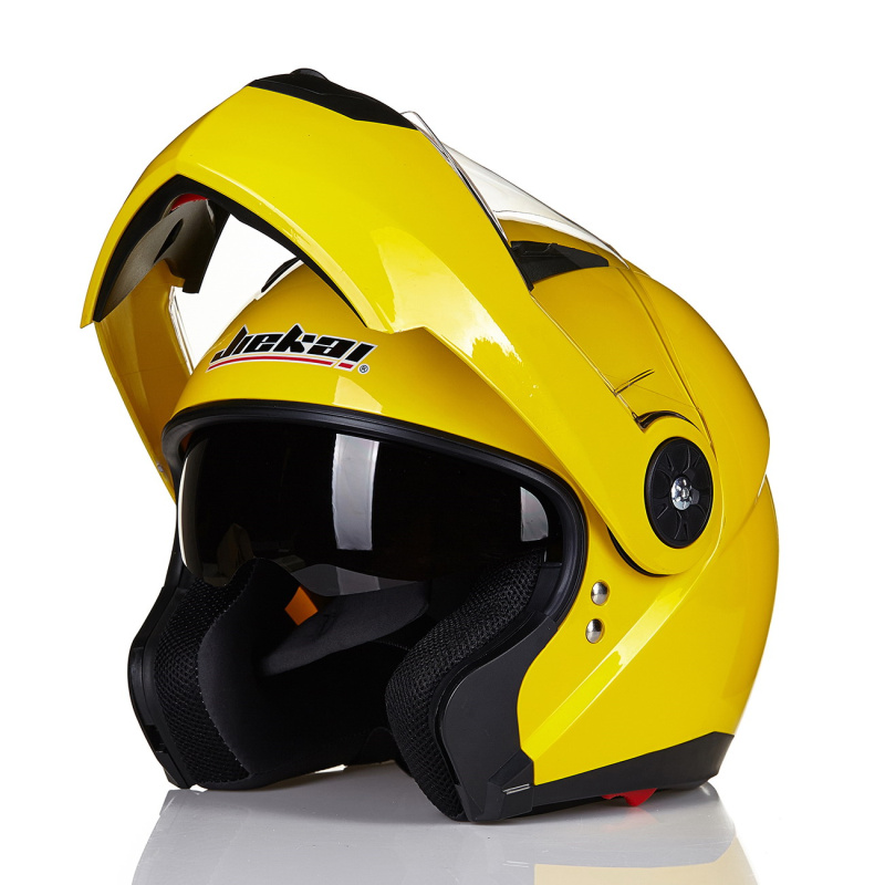 Professional JIEKAI 115 flip up motorcycle helmet removable and washable liner Aerodynamic design Double Lens helmet