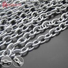 16551-G) 1 метр ширина 4,5 мм 6 мм 7 мм нержавеющая сталь цвет железо круглая овальная форма звенья цепи высокое качество соединительные цепи