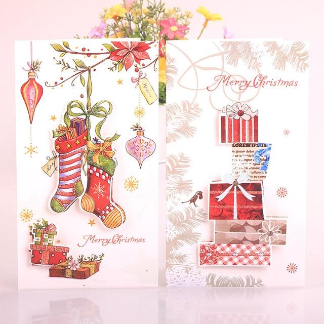 24 teil/los Neue geschenk Weihnachten nachricht visitenkarte/3D ...