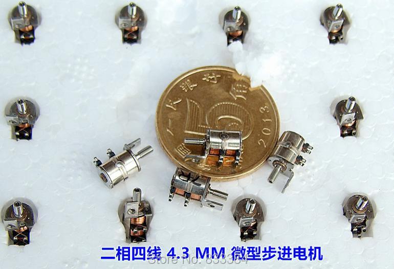 20 шт. 1V-3VDC 0,05 Вт 2 фазы 4 провода микро-шаговый двигатель для камеры монитор безопасности и т. д