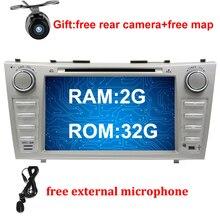 8 «2 г Оперативная память 32 г Встроенная память Android 7.1 dvd-плеер автомобиля для Toyota Camry 2007 2008 2009 2010 автомобиль радио GPS стерео магнитофон