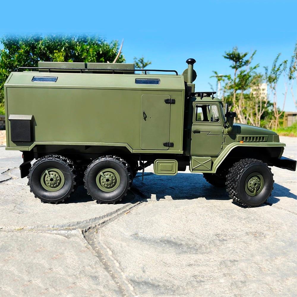 WPL B36 Ural 1/16 2.4G 6WD RC camion voiture militaire roche chenille commande véhicule de Communication RTR jouet Auto armée camions garçon jouets - 3