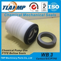 WB3 25mm PTFE Teflon Bellows Mechanical Seals Material CAR PTFE SiC For Corrosion Resistant Chemical Pumps