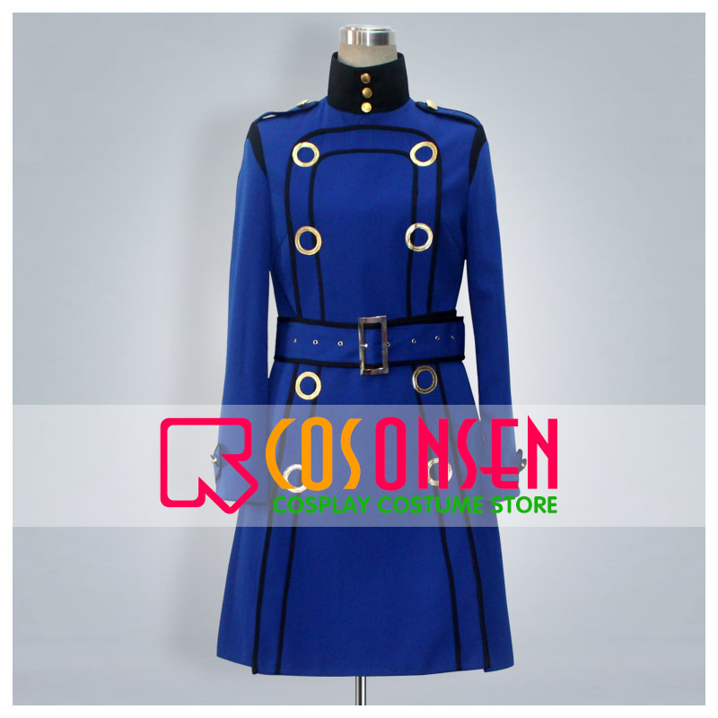 COSPLAYONSEN Shin Megami Tensei Persona 4 Marguerite Blue Coat Cosplay Costume All Sizes