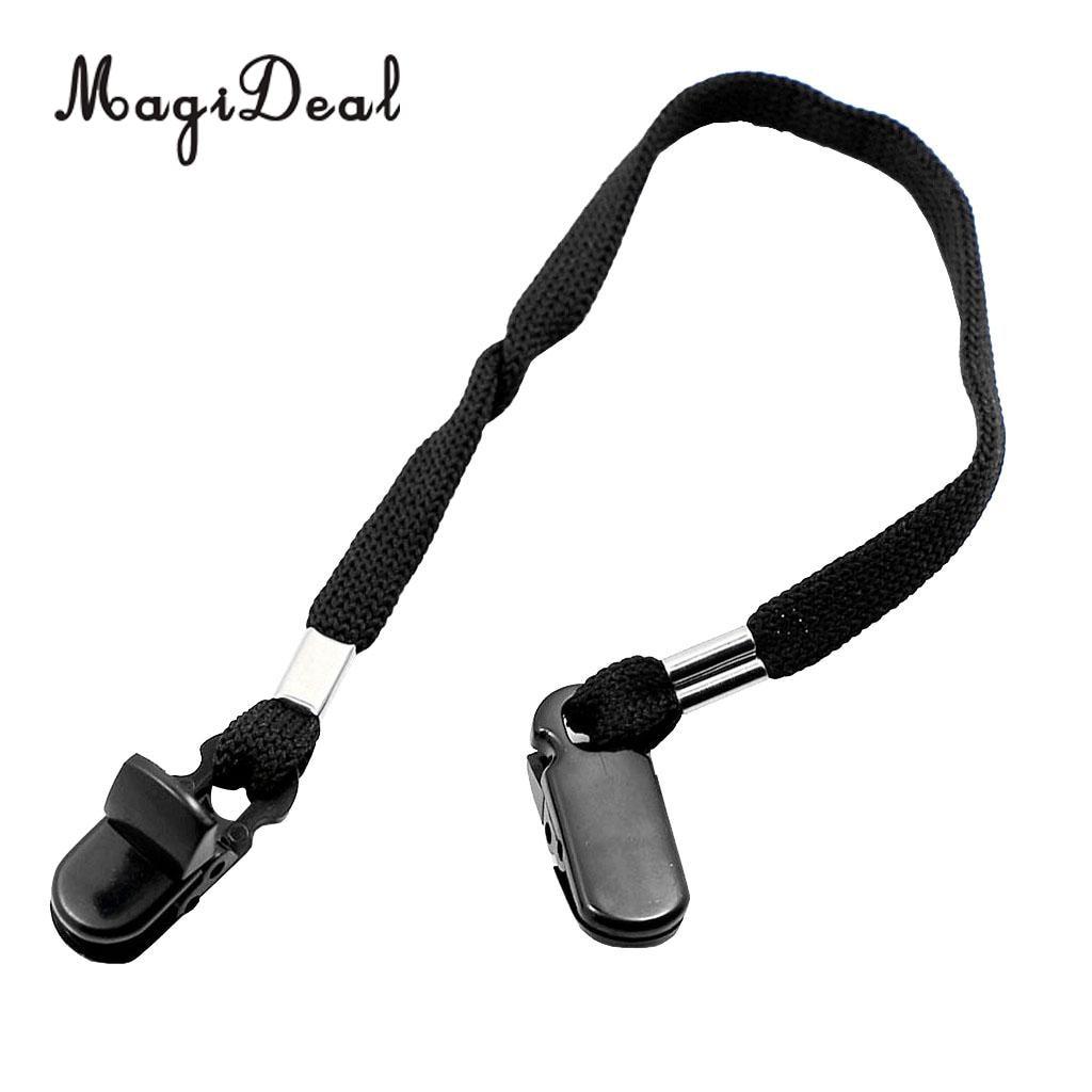 MagiDeal уличная шляпа шарф ветрозащитный зажим шнур веревка шнур Кепка аксессуары черный предотвращает выдувание