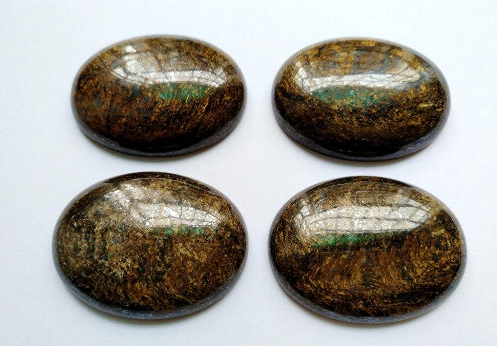 Натуральный камень бронзит 30*40 мм Овальный Драгоценный Камень Кабошон для подвесного кольца лицо 1 шт
