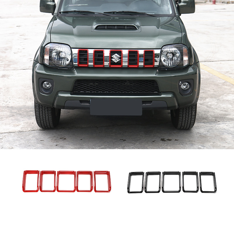 SHINEKA Car styling Car Front Grill Grille Inserts decorative Cover Molding for Suzuki Jimny 2007 2pcs set front window deflector vent visor rain guards shield cover trim for jimny 2007 2015 car styling auto accessories
