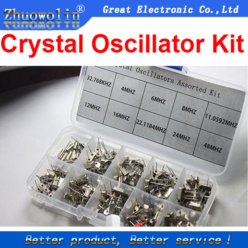 Electronic Components & Supplies 10values*20pcs=200pcs Crystal Oscillator Assorted Kit Assortment Set 32.768khz 2x6 4mhz~48mhz 49s Online Shop