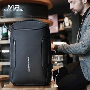 علامة رايدن 2019 جديد لمكافحة اللص الأزياء الرجال على ظهره متعددة الوظائف للماء 15.6 بوصة حقيبة لابتوب رجل USB شحن السفر حقيبة